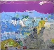 Culloden VI (Culloden Morning), distemper, oil, oil bar and charcoal on linen, 2004